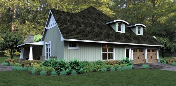 Bungalow, Cottage, Country, Tuscan House Plan 65875 with 3 Beds, 3 Baths, 2 Car Garage Picture 6