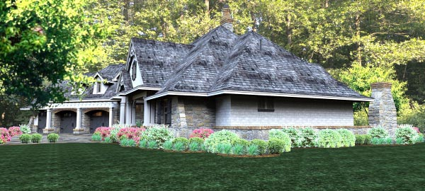 Cottage, Country, Craftsman, Traditional, Tuscan House Plan 65877 with 3 Beds, 3 Baths, 3 Car Garage Picture 3
