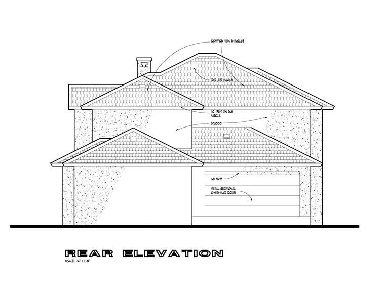 Southwest Multi-Family Plan 65878 with 6 Beds, 6 Baths, 4 Car Garage Rear Elevation