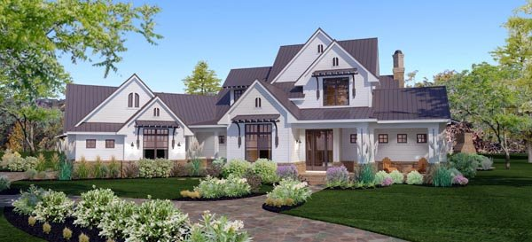 Country, Farmhouse, Traditional House Plan 65879 with 3 Beds, 3 Baths, 3 Car Garage Elevation