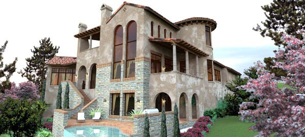 Italian, Mediterranean, Tuscan House Plan 65881 with 4 Beds, 5 Baths, 2 Car Garage Picture 4