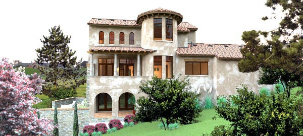 Italian, Mediterranean, Tuscan House Plan 65881 with 4 Beds, 5 Baths, 2 Car Garage Picture 5