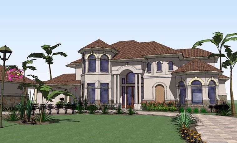 Mediterranean House Plan 65885 with 6 Beds, 7 Baths, 2 Car Garage Elevation
