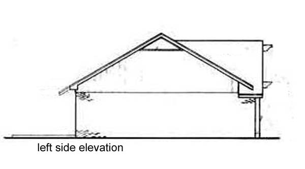 One-Story, Tudor House Plan 65915 with 3 Beds, 1 Car Garage Picture 1
