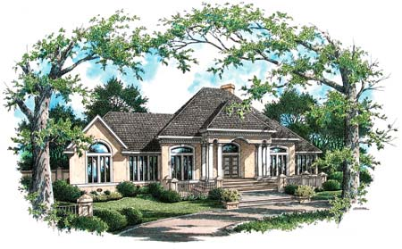 House Plan 65946 with 4 Beds, 4 Baths, 2 Car Garage Elevation