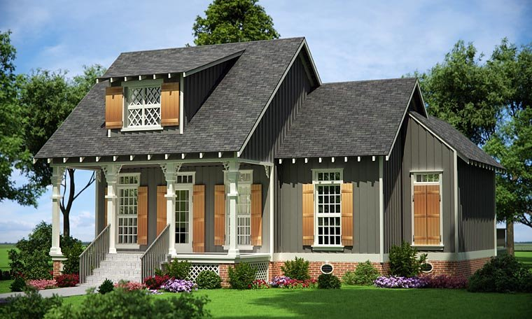 House Plan 65976 with 3 Beds, 3 Baths Elevation