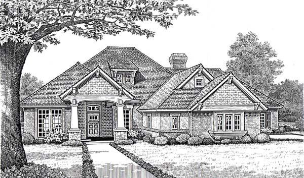 Traditional House Plan 66112 with 4 Beds, 3 Baths, 3 Car Garage Front Elevation