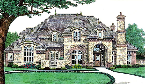 Country, French Country, Southern House Plan 66238 with 4 Beds, 5 Baths, 3 Car Garage Elevation
