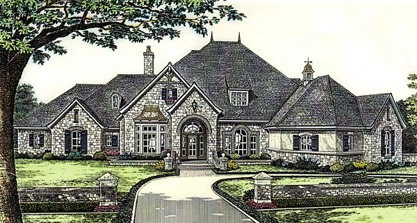 Southern House Plan 66246 with 4 Beds, 5 Baths, 4 Car Garage Elevation