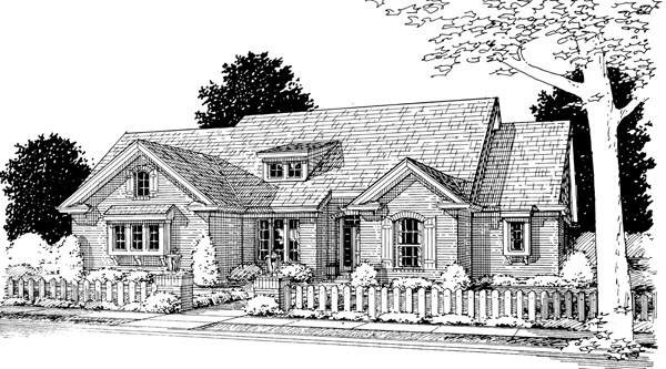 Traditional House Plan 66447 with 3 Beds, 2 Baths, 3 Car Garage Elevation
