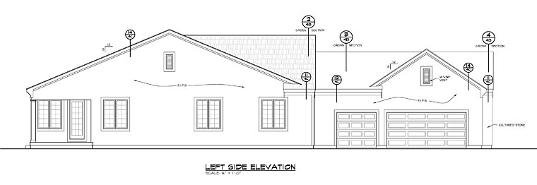 Traditional House Plan 66749 with 2 Beds, 2 Baths, 3 Car Garage Picture 1