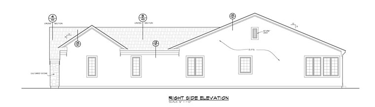 Traditional House Plan 66749 with 2 Beds, 2 Baths, 3 Car Garage Picture 2