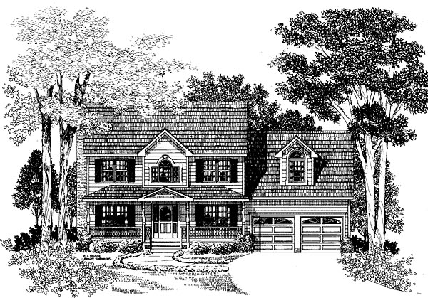 Farmhouse House Plan 67252 with 3 Beds, 3 Baths, 2 Car Garage Elevation