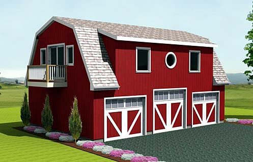 Farmhouse 3 Car Garage Plan 67275 Elevation