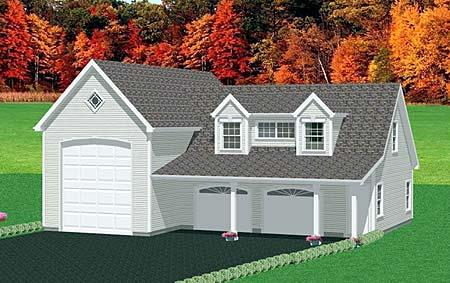 3 Car Garage Apartment Plan 67282 Front Elevation