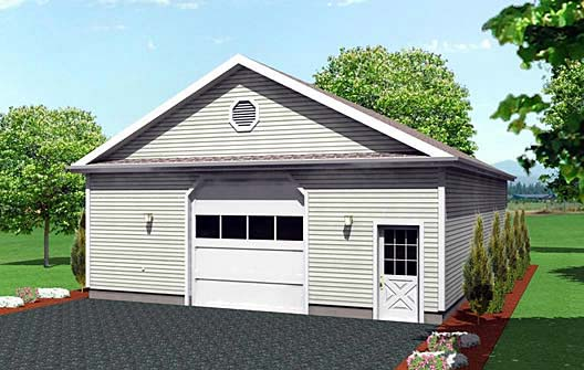 6 Car Garage Plan 67294 Elevation