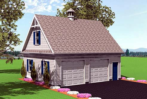 2 Car Garage Plan 67299 Elevation