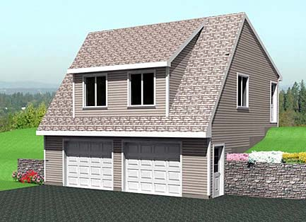 2 Car Garage Plan 67300 Front Elevation