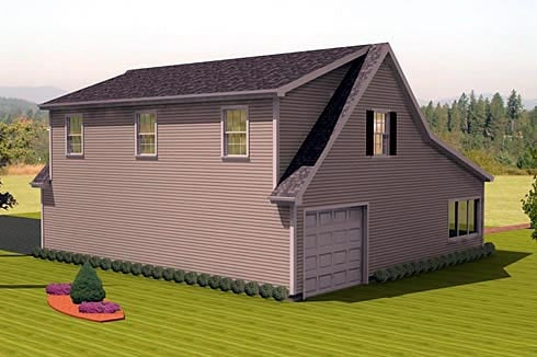3 Car Garage Apartment Plan 67307 Rear Elevation