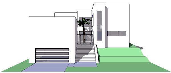 Coastal, Modern House Plan 67546 with 6 Beds, 5 Baths, 2 Car Garage Front Elevation