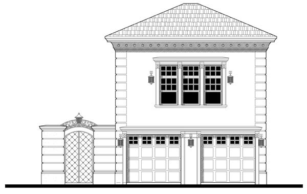 2 Car Garage Apartment Plan 67548 with 1 Beds, 1 Baths Elevation