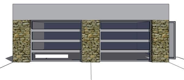2 Car Garage Plan 67550 Elevation