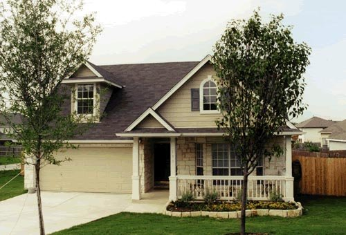 Cape Cod, Narrow Lot House Plan 67630 with 3 Beds, 3 Baths, 2 Car Garage Front Elevation