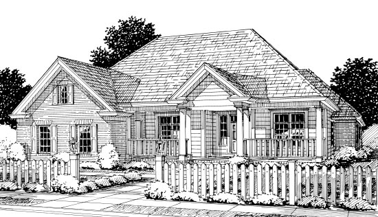 Colonial, Traditional House Plan 67881 with 4 Beds, 3 Baths, 2 Car Garage Front Elevation