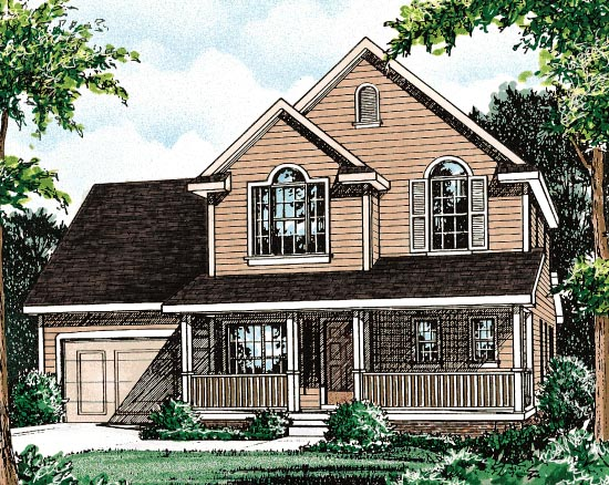 Country House Plan 68089 with 3 Beds, 3 Baths Front Elevation