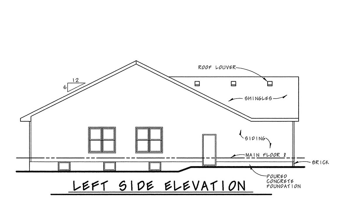 One-Story, Traditional Multi-Family Plan 68099 with 6 Beds, 4 Baths, 4 Car Garage Picture 2