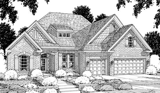 French Country House Plan 68145 with 4 Beds, 4 Baths, 3 Car Garage Picture 1