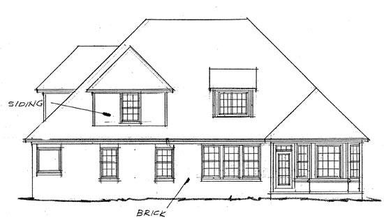 French Country House Plan 68145 with 4 Beds, 4 Baths, 3 Car Garage Rear Elevation