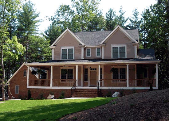 Country, Farmhouse House Plan 68162 with 4 Beds, 3 Baths, 2 Car Garage Elevation
