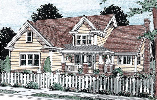 Farmhouse House Plan 68491 with 4 Beds, 4 Baths, 2 Car Garage Elevation