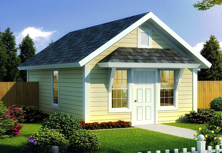 Cottage, Country, Ranch, Traditional House Plan 68572 with 1 Beds, 1 Baths Elevation