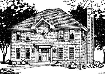 Colonial House Plan 68675 with 4 Beds, 3 Baths Elevation
