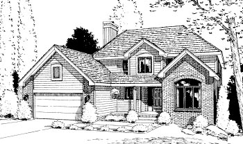 Traditional House Plan 68942 with 4 Beds, 3 Baths, 2 Car Garage Elevation