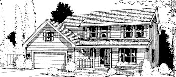 Country House Plan 68980 with 4 Beds, 3 Baths, 2 Car Garage Front Elevation