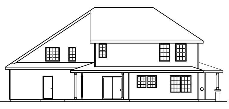 Country, Traditional House Plan 69113 with 3 Beds, 3 Baths, 3 Car Garage Rear Elevation