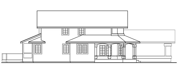 Country, Farmhouse House Plan 69234 with 3 Beds, 2.5 Baths, 3 Car Garage Rear Elevation