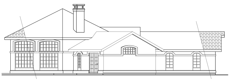 Mediterranean, One-Story, Ranch, Southwest House Plan 69339 with 3 Beds, 2 Baths, 2 Car Garage Picture 1