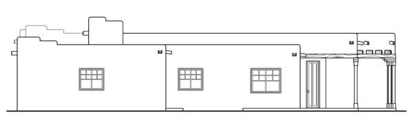 Santa Fe, Southwest House Plan 69352 with 3 Beds, 2 Baths, 2 Car Garage Picture 2