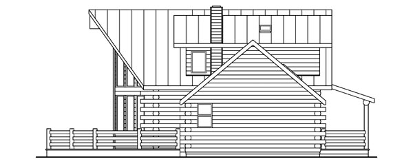 Contemporary, Log House Plan 69362 with 3 Beds, 2.5 Baths Picture 2