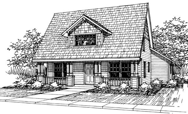 Cape Cod, Cottage, Country House Plan 69408 with 3 Beds, 2.5 Baths, 3 Car Garage Elevation