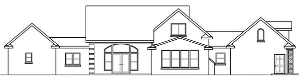 Country House Plan 69425 with 4 Beds, 3.5 Baths, 3 Car Garage Rear Elevation