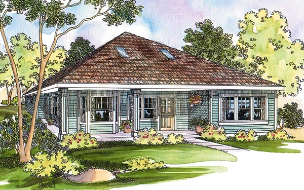 Contemporary, Cottage, Craftsman, Traditional House Plan 69474 with 2 Beds, 2 Baths Elevation