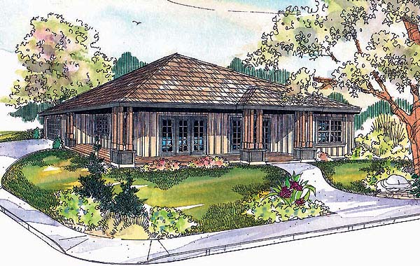 Bungalow House Plan 69741 with 3 Beds, 2 Baths, 2 Car Garage Elevation