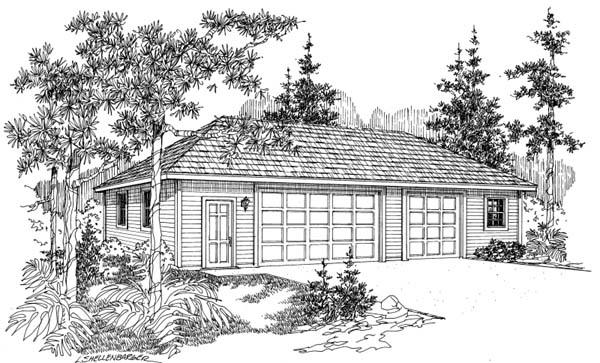 Traditional 3 Car Garage Plan 69769 Elevation
