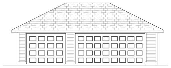 Traditional 3 Car Garage Plan 69900 Elevation