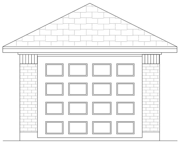Traditional 1 Car Garage Plan 69901 Elevation